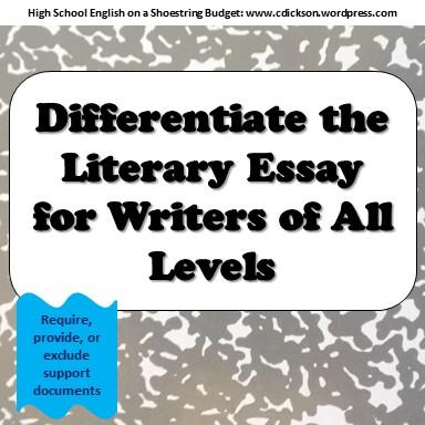 Literary essay writing